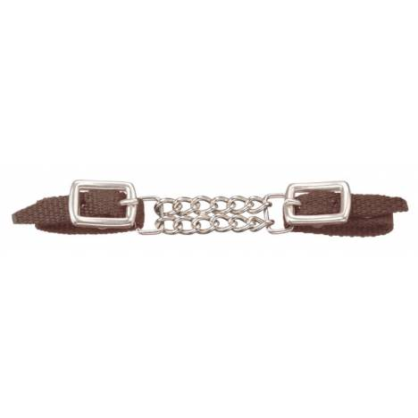 Tough-1 Miniature Nylon Curb Strap with Double Chain