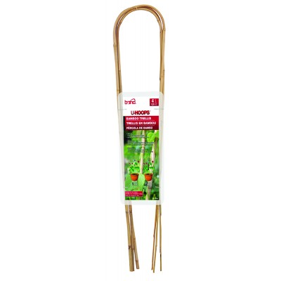 U-Hoops Bamboo Trellis - Natural - 4'/3 Pack