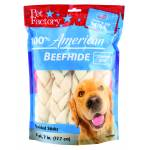 Pet Factory American Beefhide Braided Sticks Dog Chew