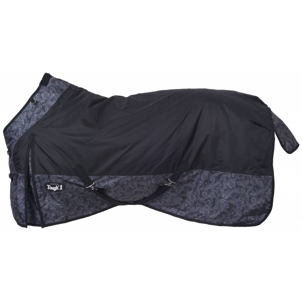Tough-1 600D Poly Waterproof Tooled Leather Print Turnout Blanket