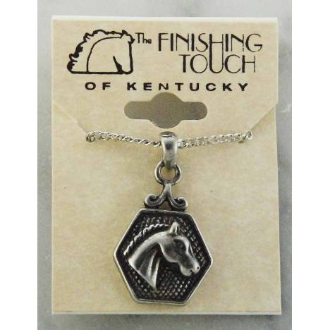 Finishing Touch Horse Head in Hex Necklace