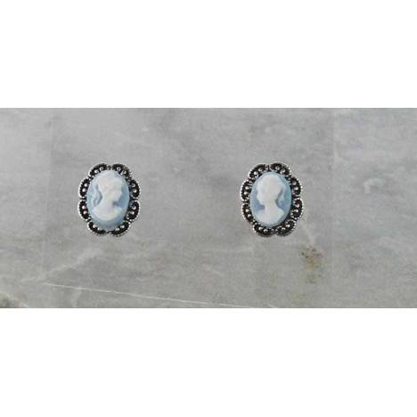 Finishing Touch Cameo in Frame Post Earring
