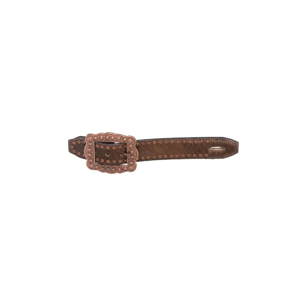 Tough-1 Studded Hair-On Belt Style Spur Strap