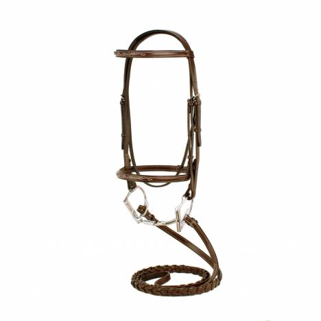 Toklat Silverleaf Fancy Sqare Raised Bridle with Reins