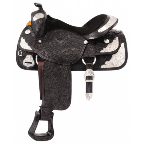 Silver Royal Youth Challenger Silver Show Saddle - Silver Star Trim