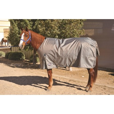 Weaver 840D Deluxe Turnout Blanket - Champagne Checked - 72