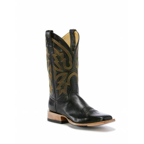 Rod Patrick Roma Black Buffalo Square Toe Boots RPM104