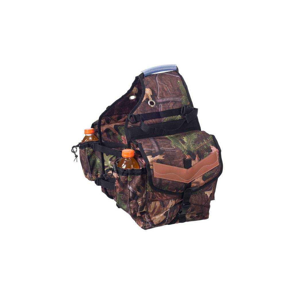 Tough-1 Multi-Pocket Insulated Nylon Saddle Bag in Prints - Tough Timber