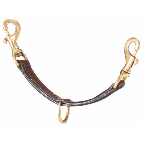 Tough-1 Leather Lunging Strap with Brass Hardware