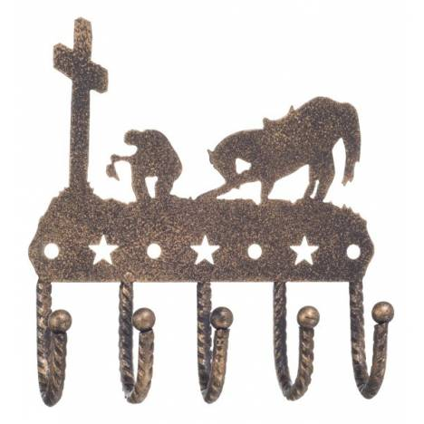 Gift Corral Key Rack - Western Cross