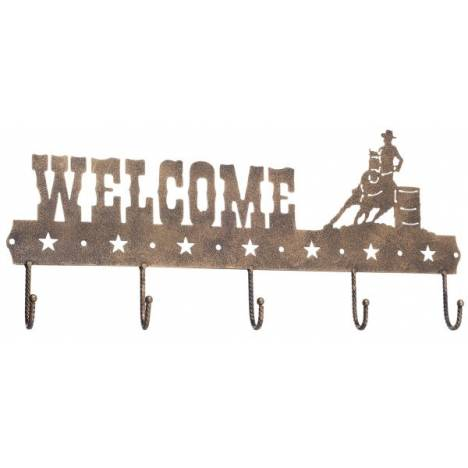 Gift Corral Welcome Sign Hook - Barrel Racer