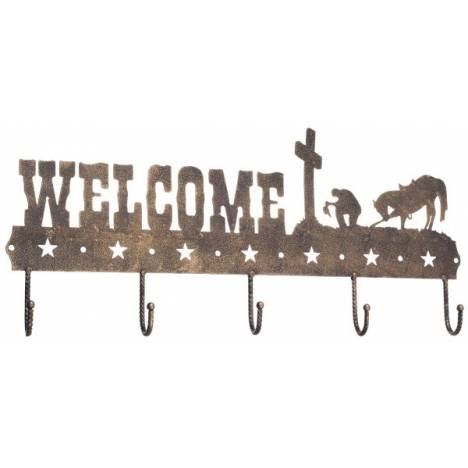Gift Corral Welcome Sign Hook - Western Cross