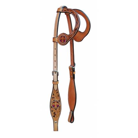 Turn-Two Equine St. Christopher Double Ear Headstall