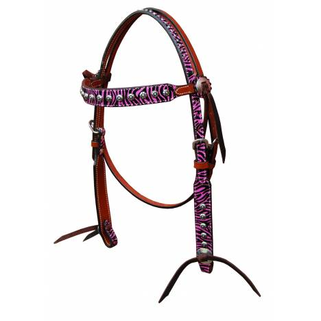 Turn-Two Equine Chasing Wild Brow Band Headstall