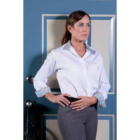 Devon Aire Signature Woven Long Sleeve Show Shirt With Moisture Wick