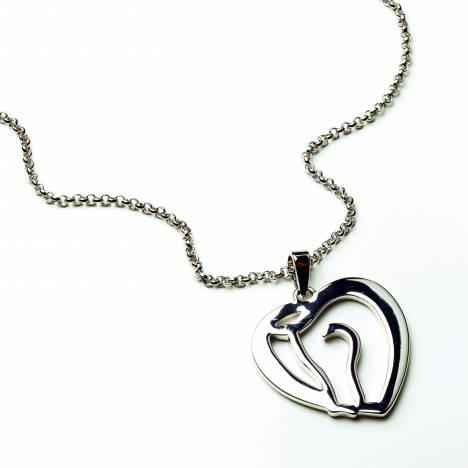 Horse Head as Heart Necklace