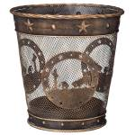 Gift Corral Small Waste Basket - Western Cross