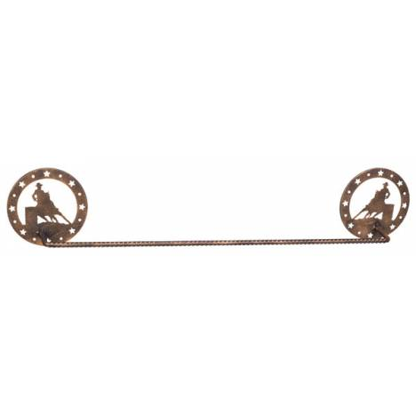 Gift Corral Towel Bar - Barrel Racer