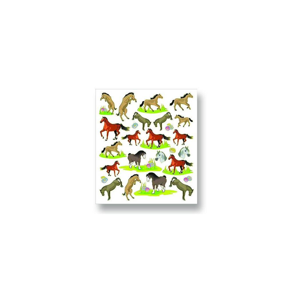 Horses & Flowers Stickers