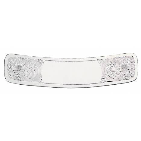 Montana Silversmiths Clear Edge Engraved Silver Cantle Plate