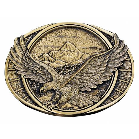 Montana Silversmiths Soaring Eagle Brass Heritage Attitude Belt Buckle