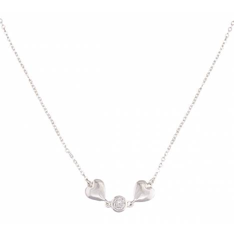 Montana Silversmiths Heart 2 Heart Necklace with Clear Crystal