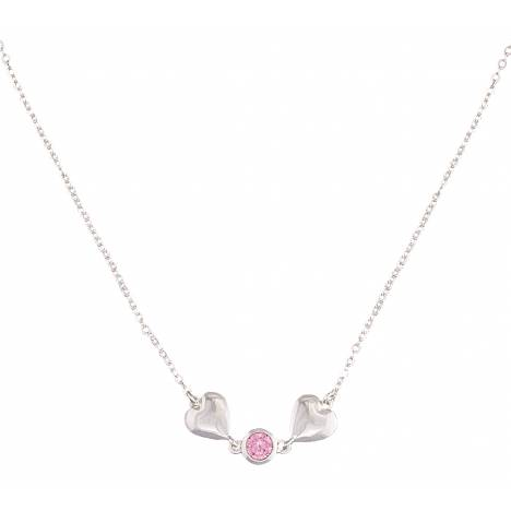 Montana Silversmiths Heart 2 Heart Necklace with Pink Crystal