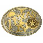 Montana Silversmiths Modern Texas Two Tone Attitude Belt Buckle