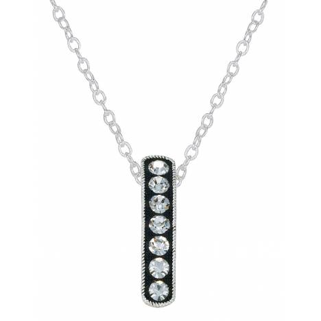 Montana Silversmiths Crystal Shine Hanging Bar Necklace