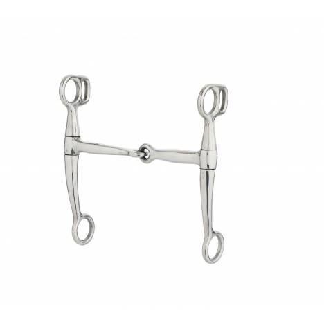 Turn-Two Equine Stainless Steel Snaffle Tom Thumb Bit