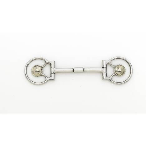 Turn-Two Equine Stainless Steel Concho Roller Jointed D-Ring Bit
