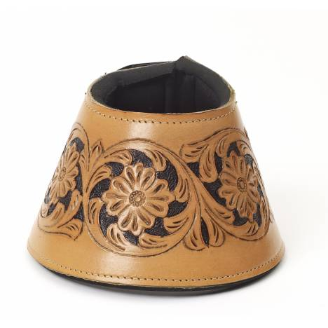 Mesquite Canyon Leather Tooled No Turn Bell Boot