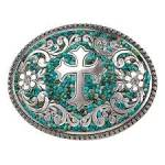 Nocona Oval Cross and Scrolling Buckle
