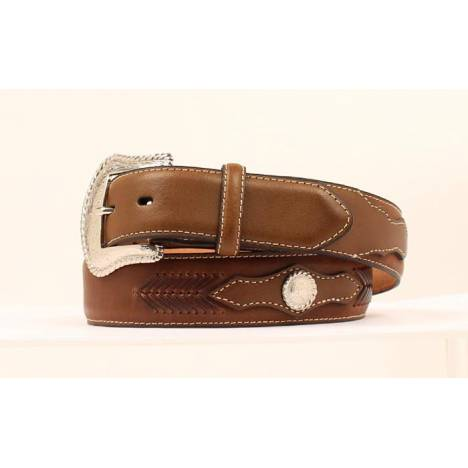Nocona Mens Top Hand Belt with Concho