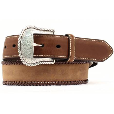 Nocona Mens Top Hand Lace Edge/Round Concho Belt