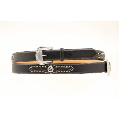 Nocona Mens Top Hand Studded Tab with Star Belt