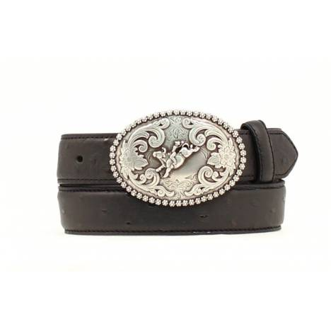 Nocona Youth Ostrich Belt with Buckle