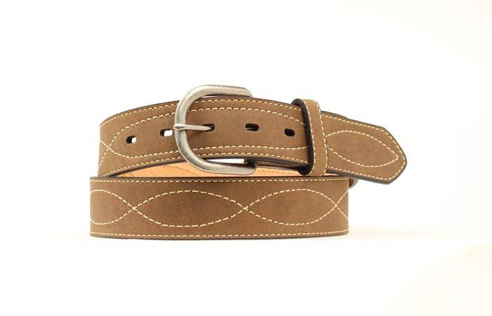 Nocona Brown Leather Mens Hired Hand Woven Belt