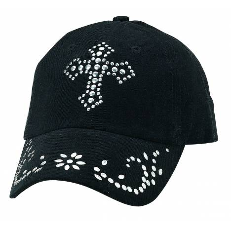 Blazin Roxx Ladies Nailhead Cross Cap