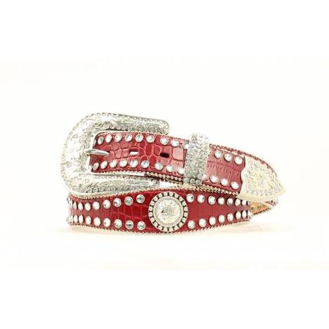 Blazin Roxx Ladies Scalloped Belt with Rhinestone Conchos