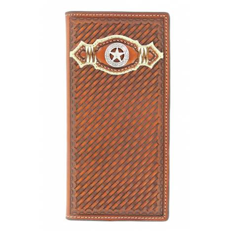 Nocona Mens Basketweave/Star Wallet