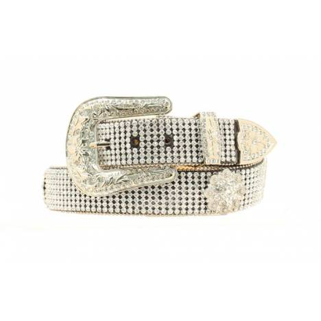 Nocona Ladies Mesh Belt with Round Crystal