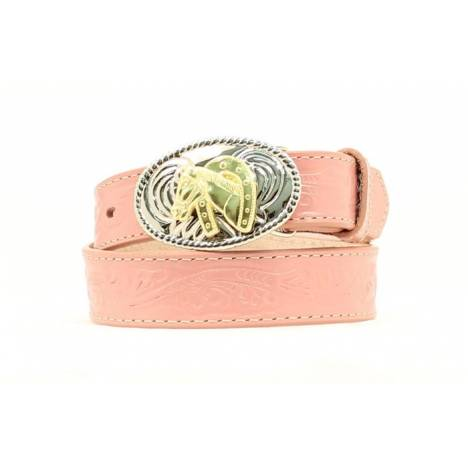 Nocona Girls Floral Belt with Buckle