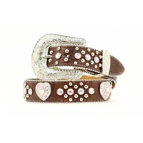 Nocona Youth Rhinestone/Heart Concho Belt