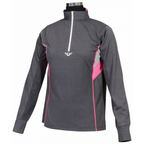 TuffRider Ladies Neon Ventilated Polo Shirt