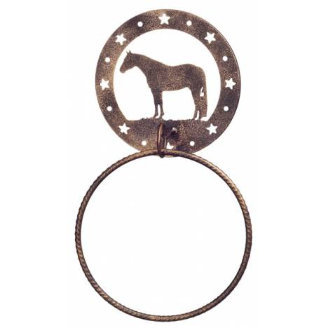 Gift Corral Towel Ring - Quarter Horse