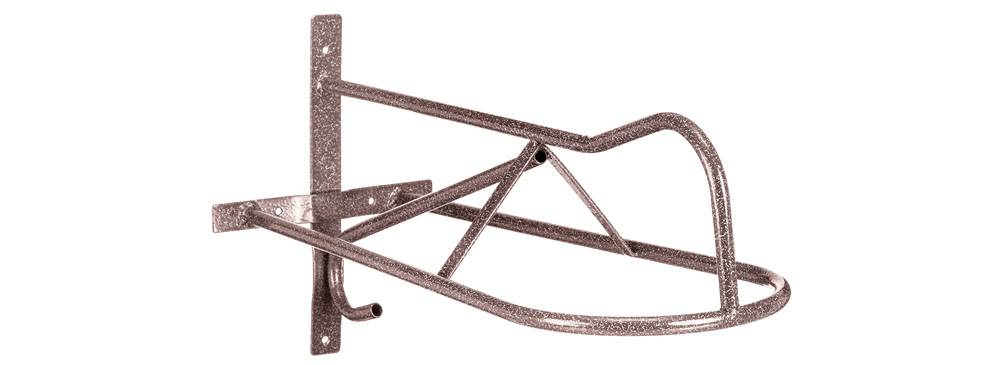 Tough 1 Western Wall Mount Saddle Rack In Hammered Horseloverz