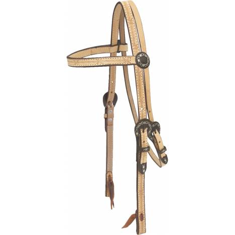 Billy Cook Saddlery Barbed Wire Browband Headstall