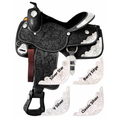 Silver Royal Grandview Silver Show Saddle - Berry Edge Trim
