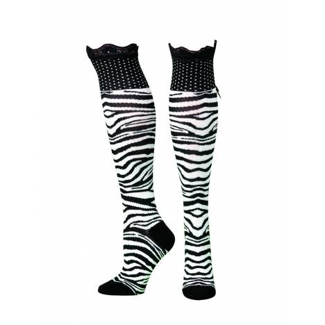 Blazin Roxx Knee Length Animal Print Socks
